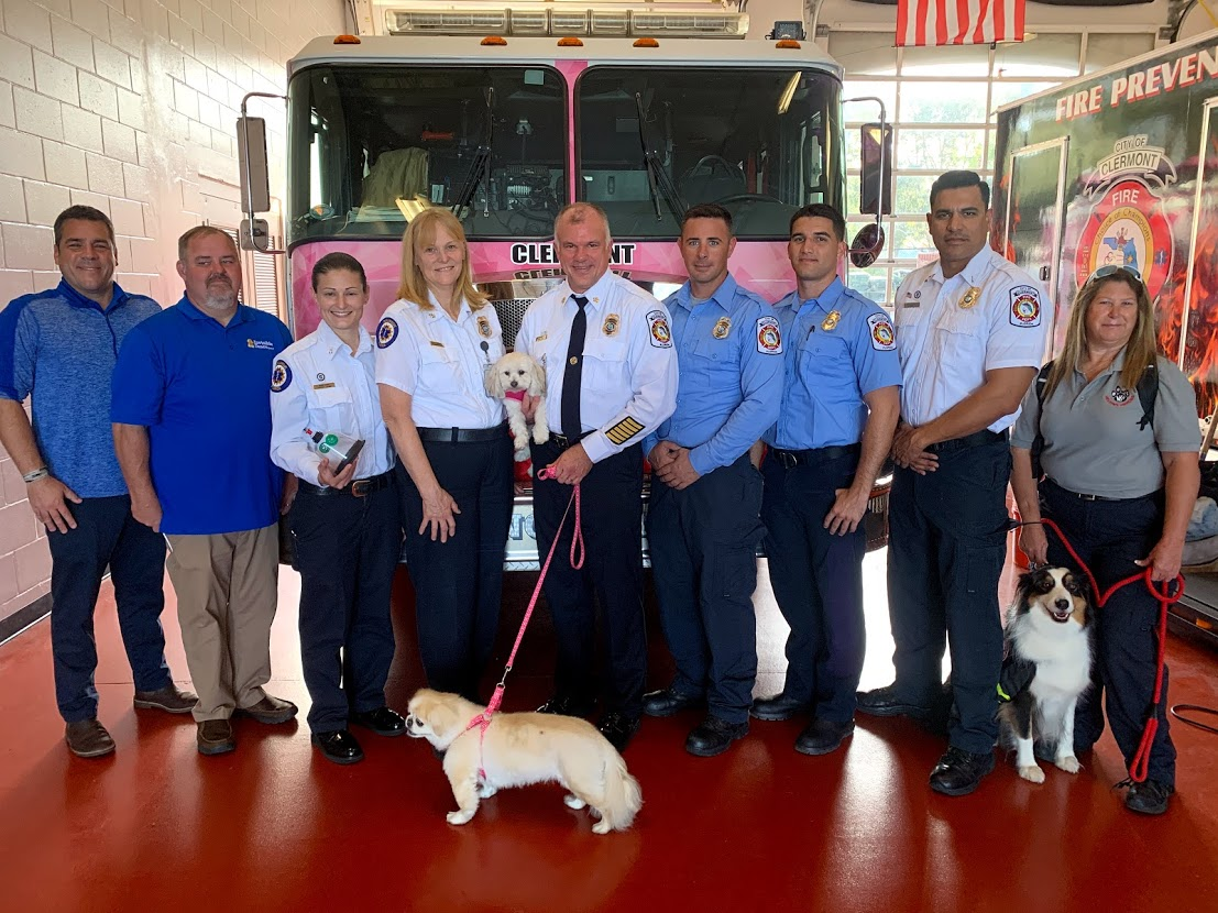 Clermont Fire Department Receives Life-Saving Pet Oxygen Mask Donation