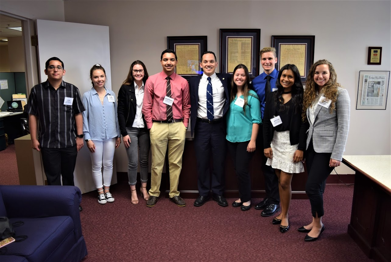 Youth Council standing side by side with Rep. Anthony Sabatini