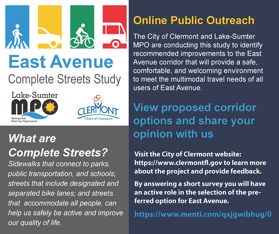 East Avenue Complete Streets Study description