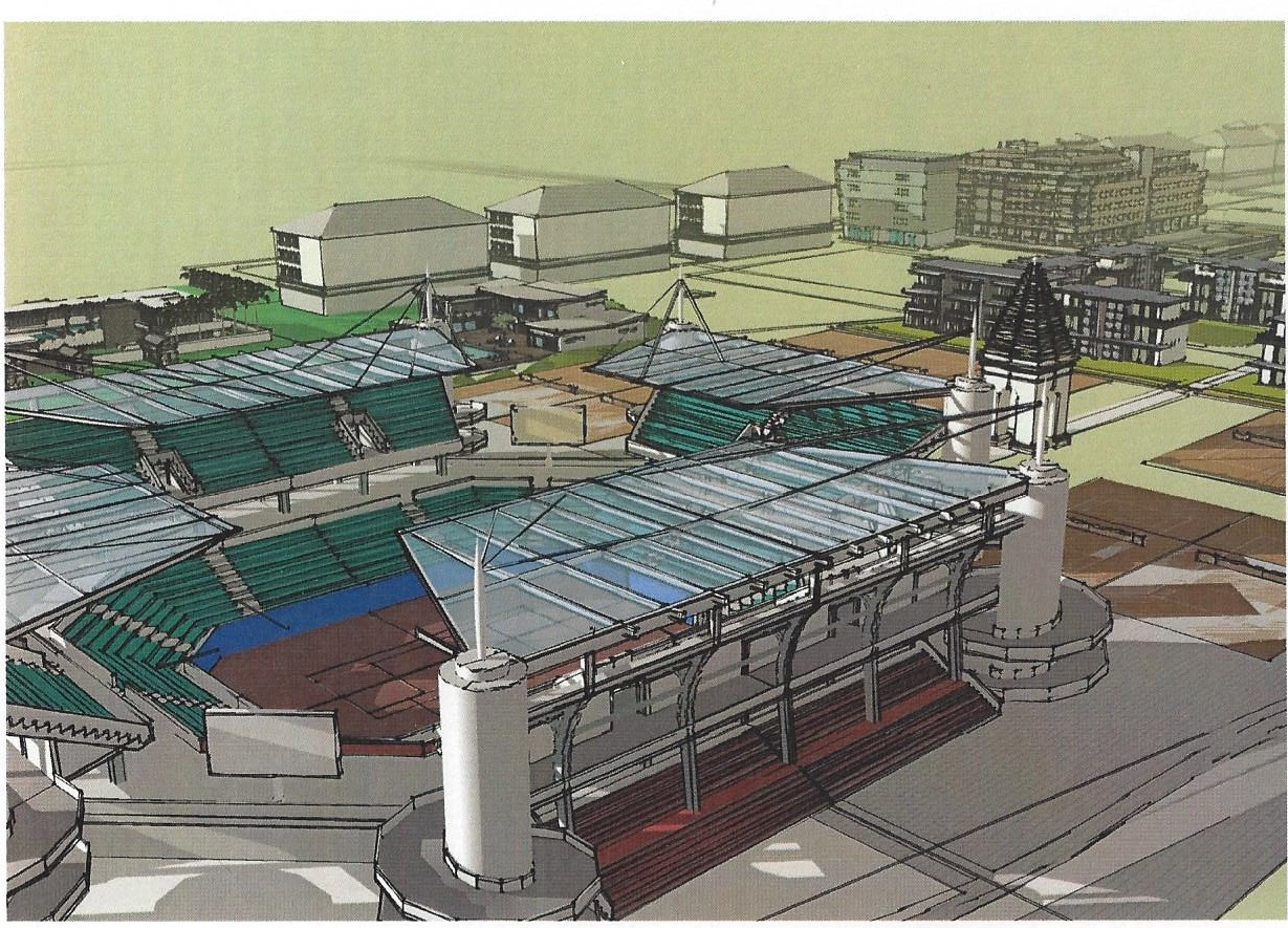 Developers concept drawing of the proposed International Tennis Center