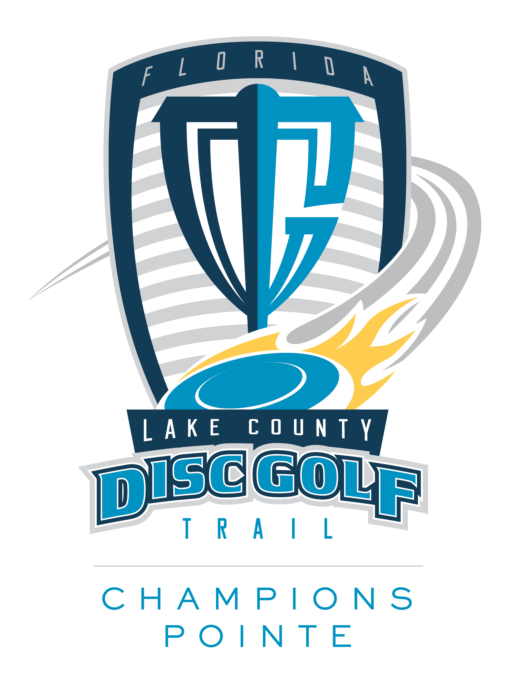 Logo for Champions Pointe on the Lake County Disc Golf Trail