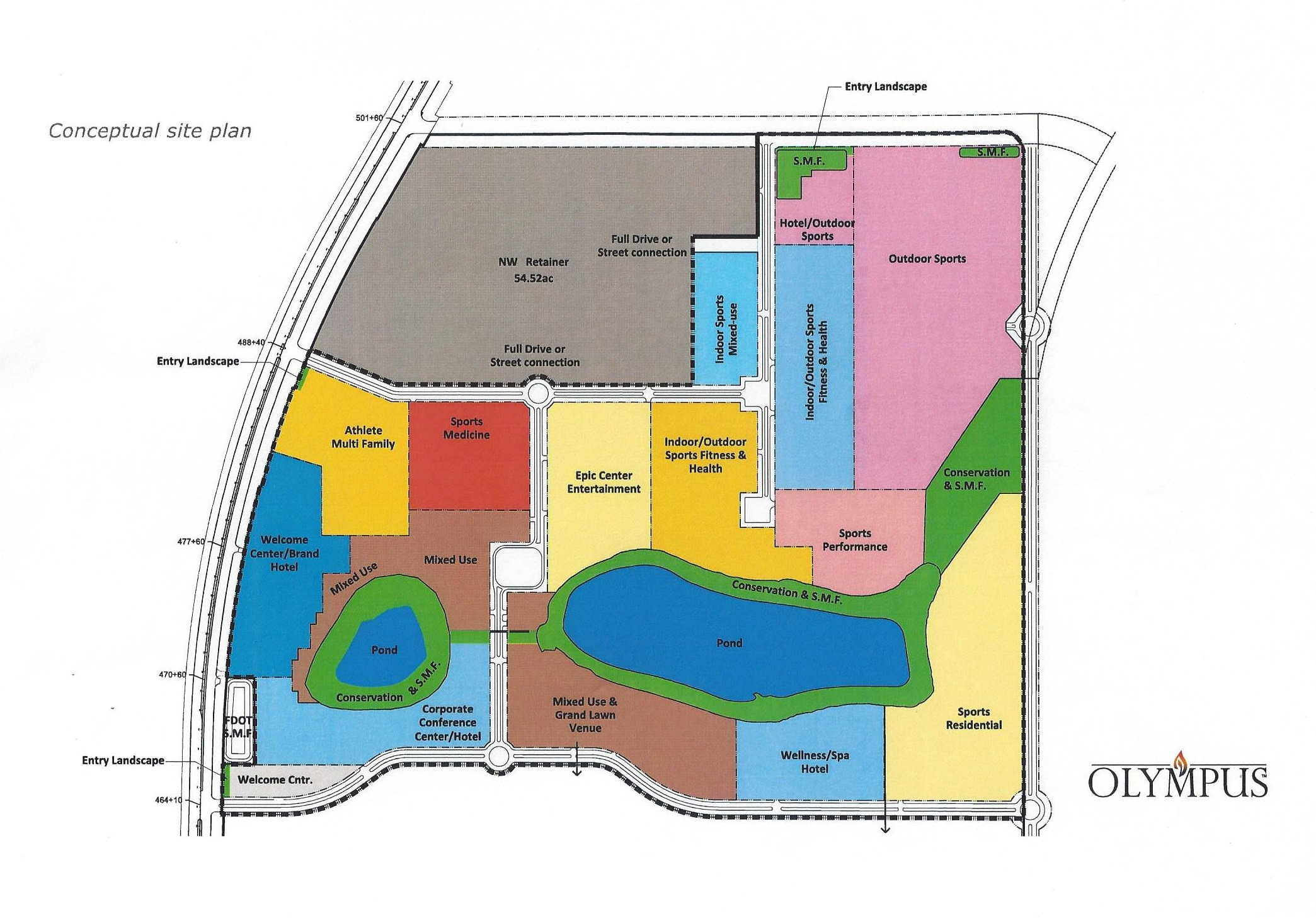 Proposed site map of the Olympus project.