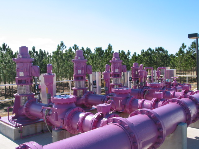 Reuse center and pipes